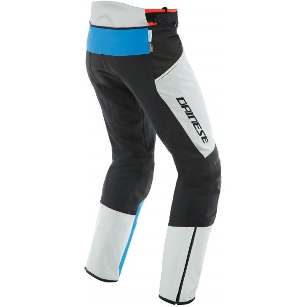Dainese Tonale D-Dry Grey Blue Black Textile Motorcycle Pants Rear