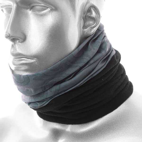 Nekx Neck Tube Heraldic Grey Black Neckwarmers
