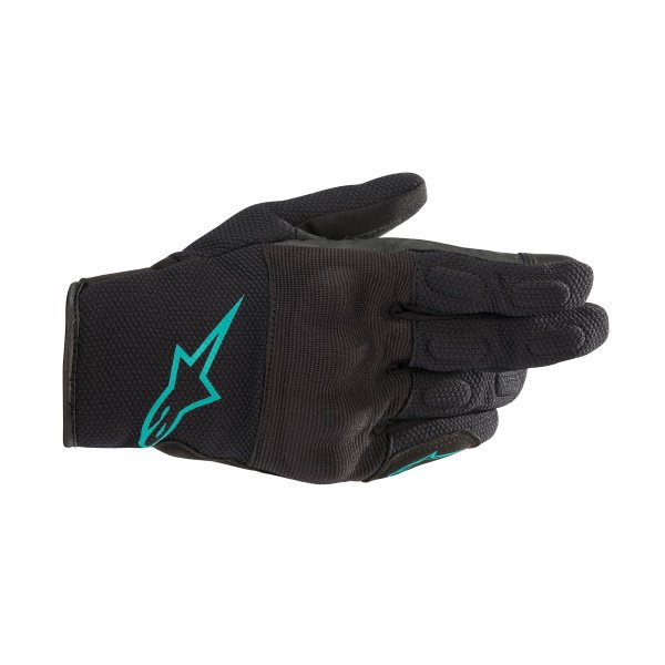 Alpinestars Stella S Max DS Ladies Black Teal Motorcycle Gloves Back