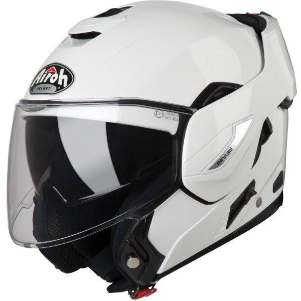 Airoh REV19 Flip White Flip Front Motorcycle Helmet Open