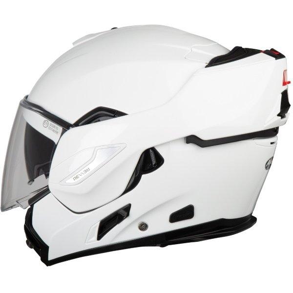 Airoh REV19 Flip White Flip Front Motorcycle Helmet Left Side