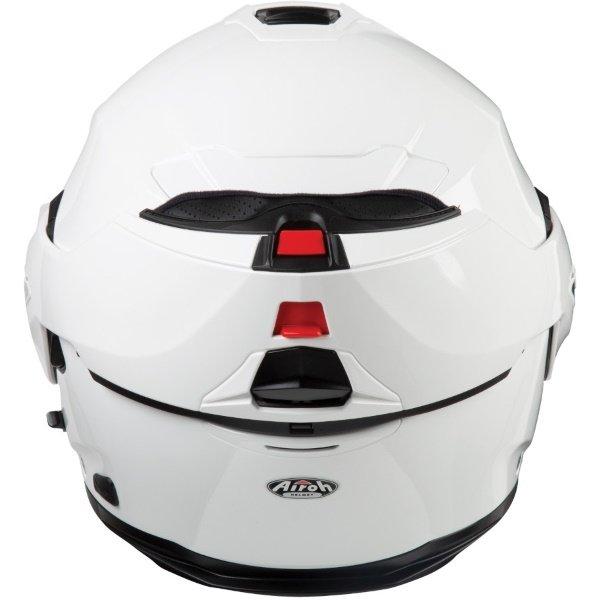 Airoh REV19 Flip White Flip Front Motorcycle Helmet Back with Flip Up