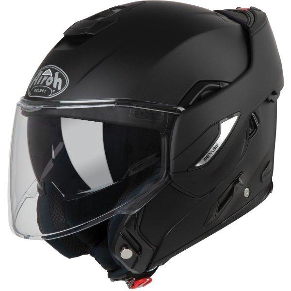 Airoh REV19 Flip Matt Black Flip Front Motorcycle Helmet Open
