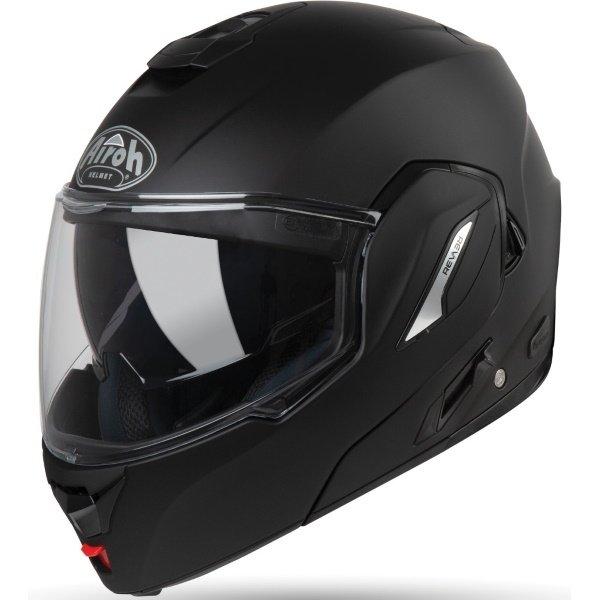Airoh REV19 Flip Matt Black Flip Front Motorcycle Helmet Front Left
