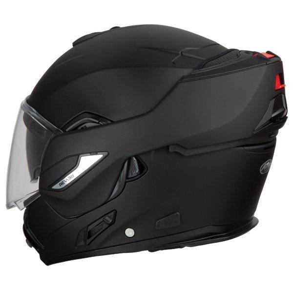 Airoh REV19 Flip Matt Black Flip Front Motorcycle Helmet Left Side