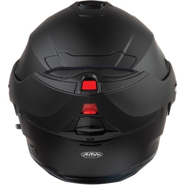 Airoh REV19 Flip Matt Black Flip Front Motorcycle Helmet Back with Flip Up