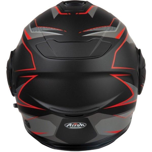 Airoh REV19 Flip Revolution Matt Black Red Flip Front Motorcycle Helmet Back