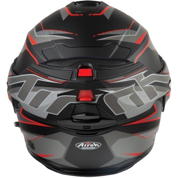 Airoh REV19 Flip Revolution Matt Black Red Flip Front Motorcycle Helmet Back With Flip Up