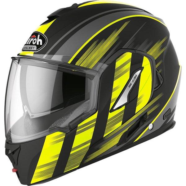 Airoh REV19 Flip Ikon Yellow Matt Flip Front Motorcycle Helmet Front Left