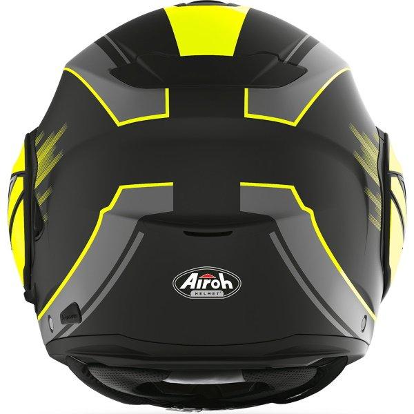 Airoh REV19 Flip Ikon Yellow Matt Flip Front Motorcycle Helmet Back