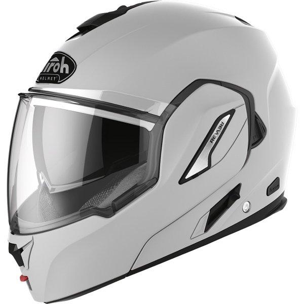 Airoh REV19 Flip Grey Matt Black Flip Front Motorcycle Helmet Front Left