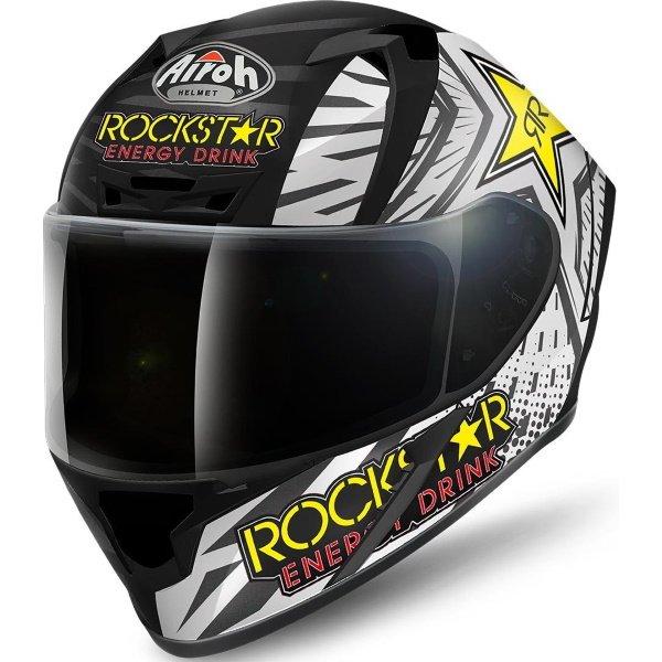Airoh Valor Rockstar Full Face Motorcycle Helmet Front Left