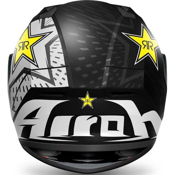 Airoh Valor Rockstar Full Face Motorcycle Helmet Back