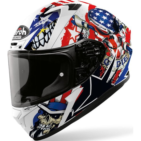 Airoh Valor Uncle Sam Full Face Motorcycle Helmet Front Left