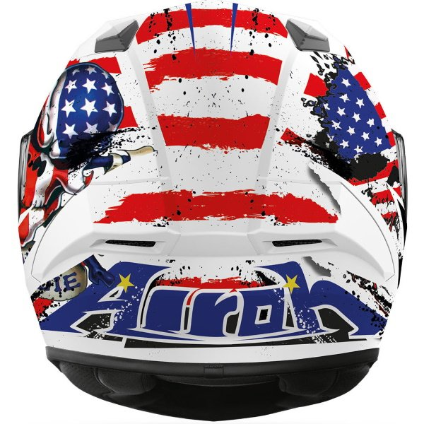 Airoh Valor Uncle Sam Full Face Motorcycle Helmet Back