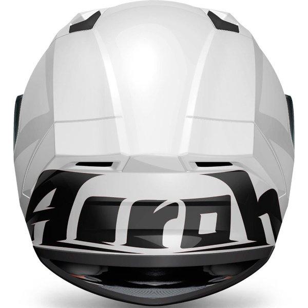 Airoh Valor White Full Face Motorcycle Helmet Back