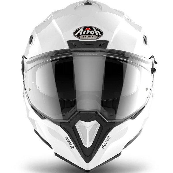 Airoh Commander White Adventure Motorcycle Helmet Front