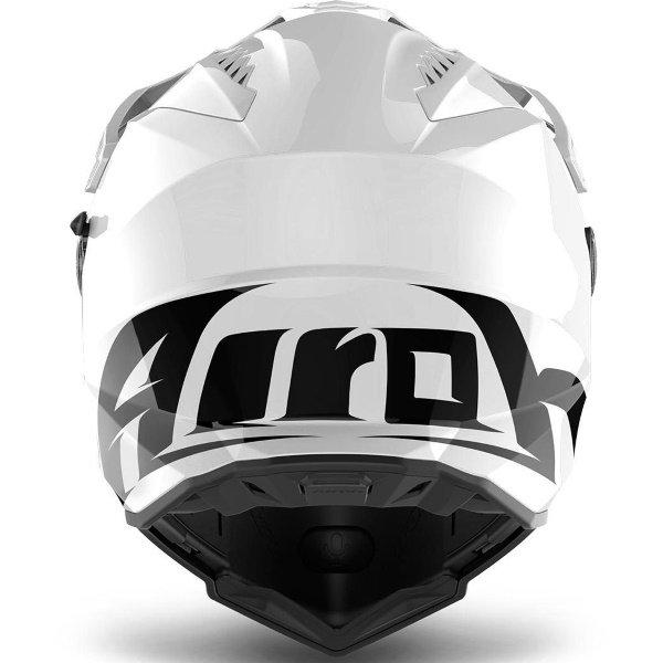 Airoh Commander White Adventure Motorcycle Helmet Back