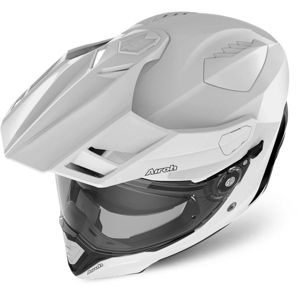 Airoh Commander White Adventure Motorcycle Helmet Top
