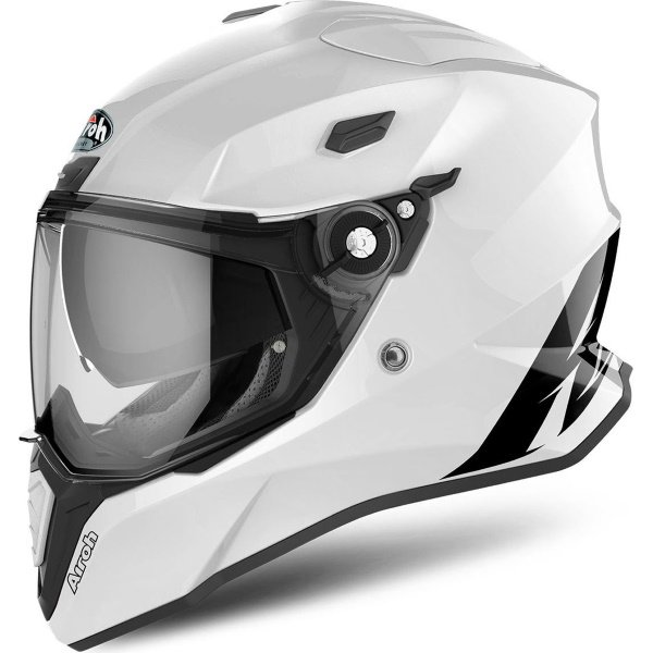 Airoh Commander White Adventure Motorcycle Helmet Left Side