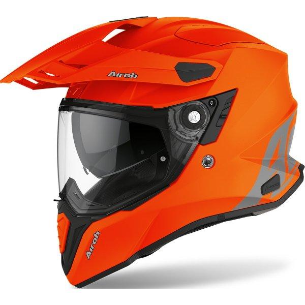 Commander ADV Helmet Orange Fluo Matt Airoh Helmets