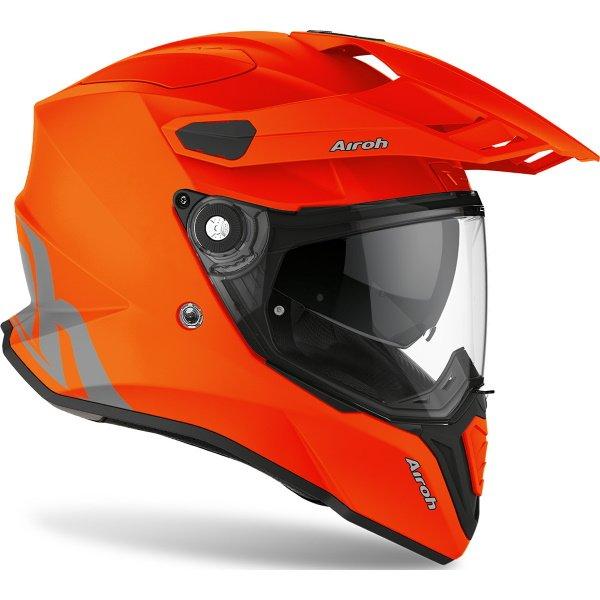 Airoh Commander Orange Fluo Matt Adventure Motorcycle Helmet Front Right