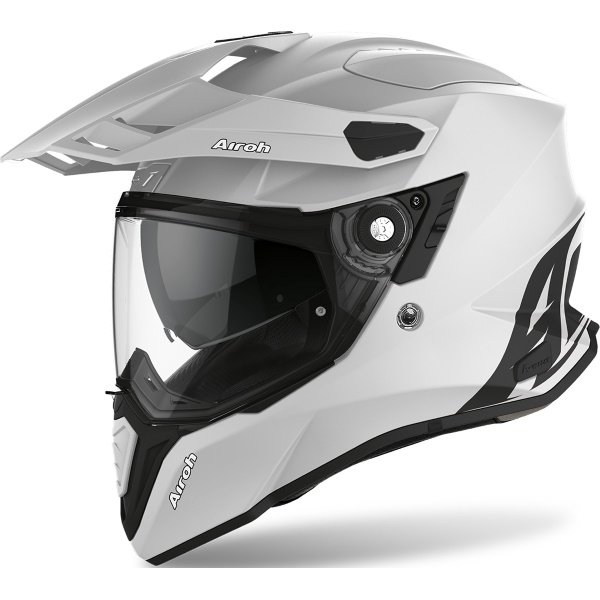 Airoh Commander Grey Matt Adventure Motorcycle Helmet Front Left