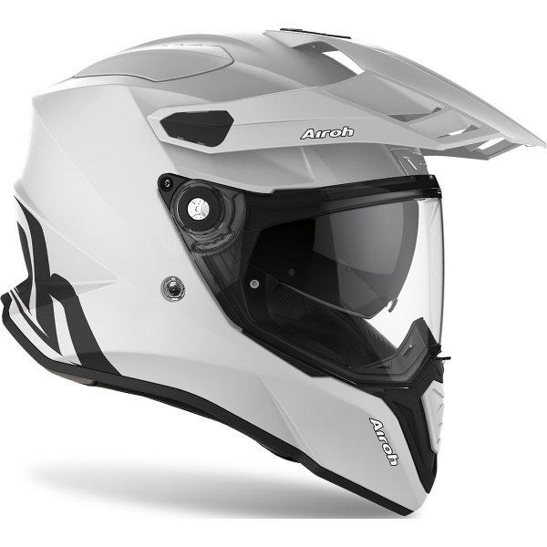 Airoh Commander Grey Matt Adventure Motorcycle Helmet Front Right