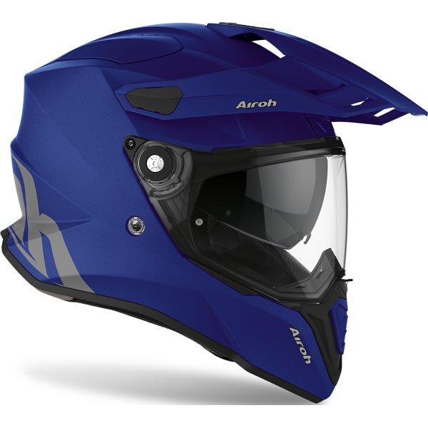 Airoh Commander Matt Blue Adventure Motorcycle Helmet Front Right