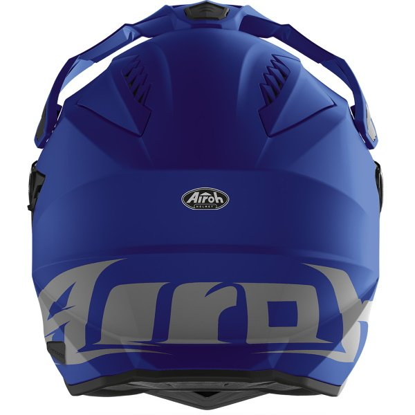 Airoh Commander Matt Blue Adventure Motorcycle Helmet Back