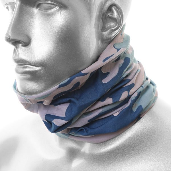 Nekx Neck Tube Camouflage 4 Blue Neckwarmers