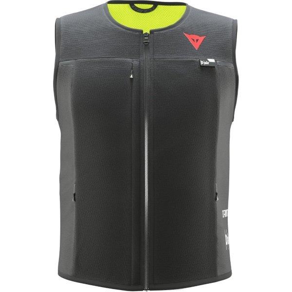 Dainese Smart Jacket Black Mens Motorcycle Airbag Vest Front