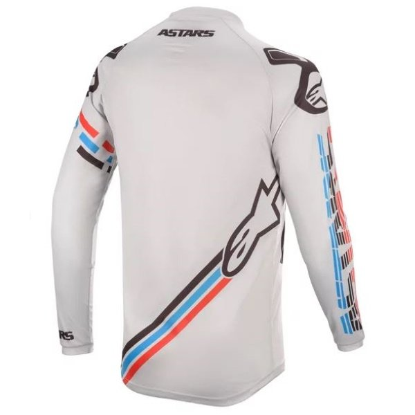 Alpinestars Racer Braap Light Grey Black Motocross Jersey Back