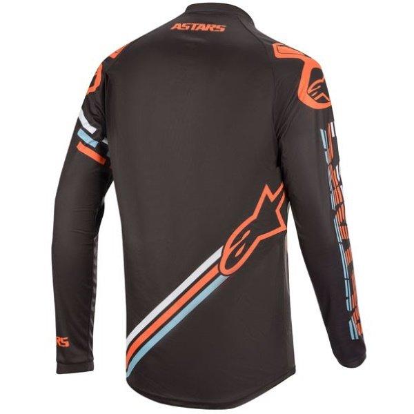 Alpinestars Racer Braap Dark Grey Fluo Orange Motocross Jersey Back