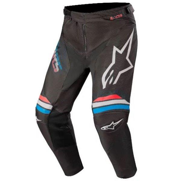 Alpinestars Racer Braap Black Light Grey Motocross Pants Front