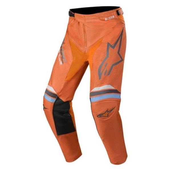 Alpinestars Racer Braap Dark Grey Fluo Orange Motocross Pants Front