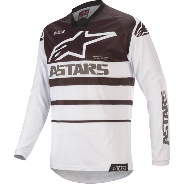 Alpinestars Racer Supermatic White Black Motocross Jersey Front