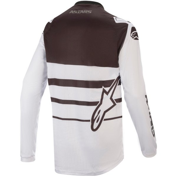 Alpinestars Racer Supermatic White Black Motocross Jersey Back