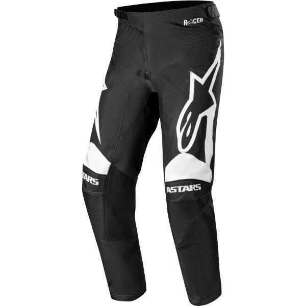 Alpinestars Racer Supermatic Black White Motocross Pants Front