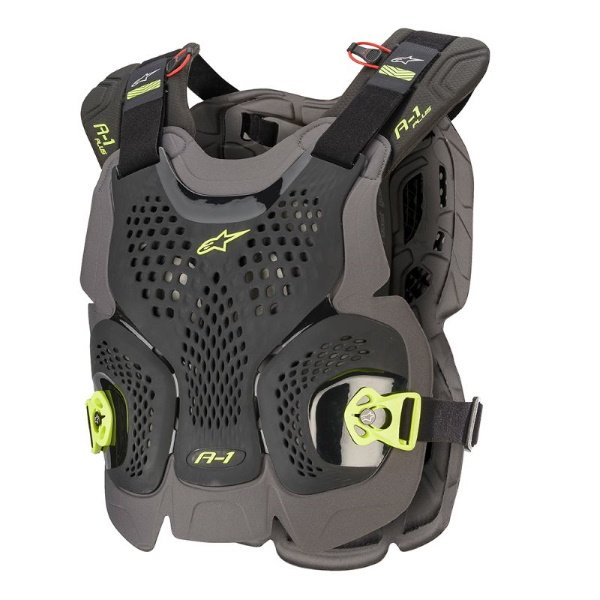 Alpinestars A-1 Plus Black Anthracite Yellow Chest Protector