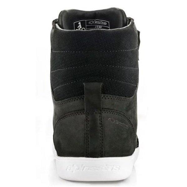 Alpinestars J-6 Waterproof Black White Motorcycle Shoes Heel