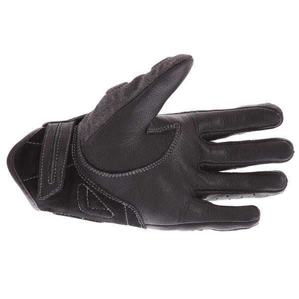 BKS Denim Ladies Black Motorcycle Glove Palm