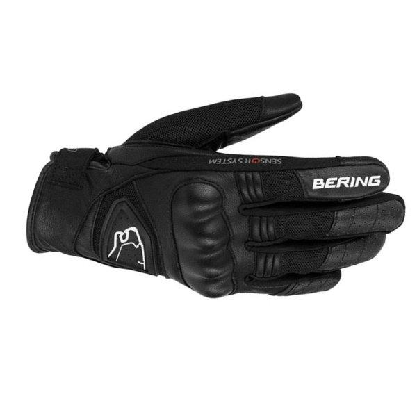 Bering Lady Ginza Ladies Black White Motorcycle Gloves Back