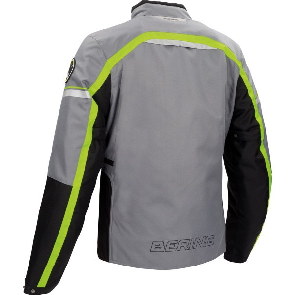 Bering Greenwich Black Anthracite Fluo Textile Motorcycle Jacket Back