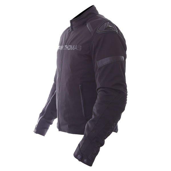 Frank Thomas Evo Race Black Waterproof Motorcycle Jacket Side