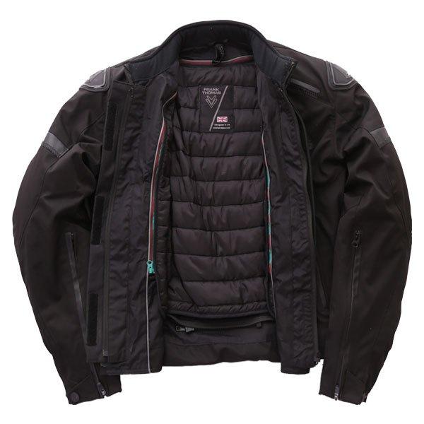 Frank Thomas Evo Race Black Waterproof Motorcycle Jacket Inside