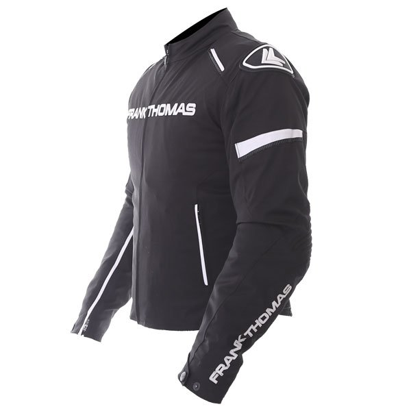 Frank Thomas Evo Race Black White Waterproof Motorcycle Jacket Side