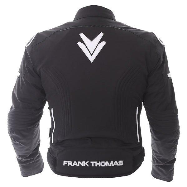 Frank Thomas Evo Race Black White Waterproof Motorcycle Jacket Back