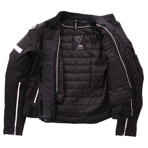 Frank Thomas Evo Race Black White Waterproof Motorcycle Jacket Inside