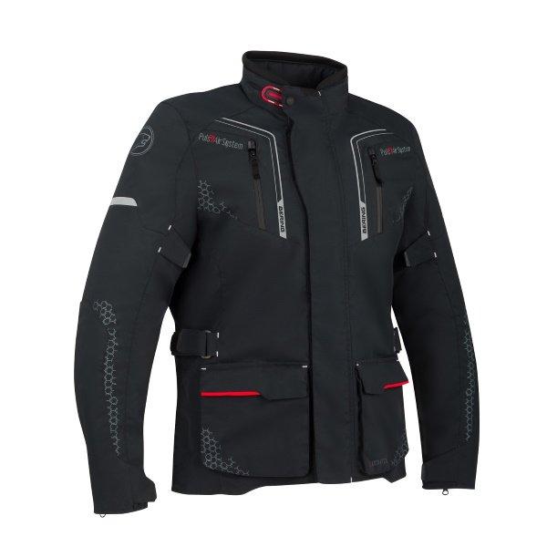 Bering Alaska Black Textile Motorcycle Jacket Front